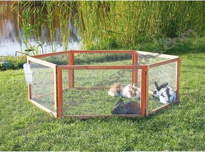 jaulas de madera para conejos
