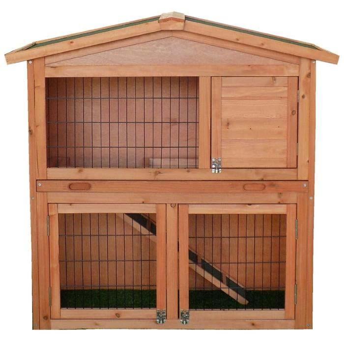 jaulas para conejos de madera